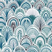Seamless abstract wave pattern Ornamental vector illustration