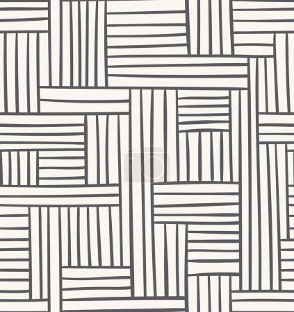 Illustration for Vector seamless geometric pattern. Abstract illustration in grey color - Royalty Free Image