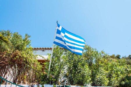 Waving flag of Greece