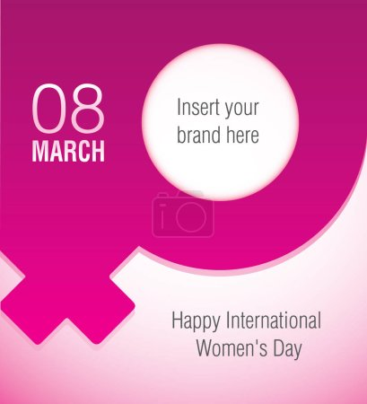 Commemorative card to International Women's Day. Ideal for educational and informational materials