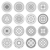 Icon geometric mandalas coloring pages Ideal for visual communication information and institutional material