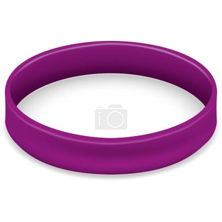 Icon symbol of the fight and awareness, purple bracelet. Ideal for educational and informational materials