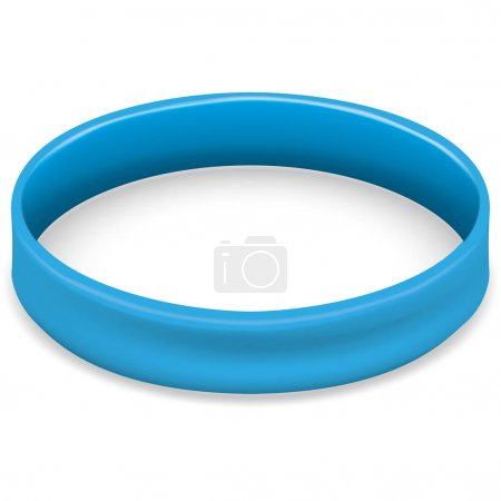 Symbol icon of fight and awareness, blue bracelet. Ideal for educational and informational materials