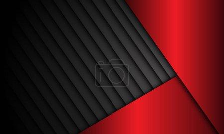 Abstract red metallic dark shutter pattern design modern futuristic background vector illustration.