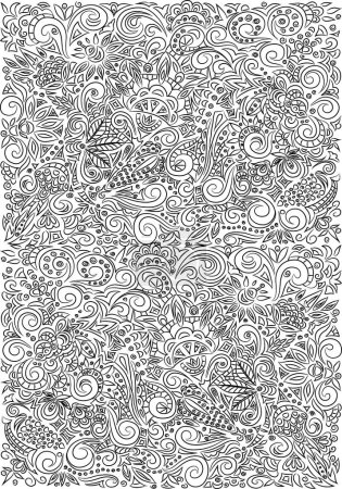 Zentangle doodle texture. Coloring book for adult