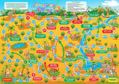Vector illustration of board game for children Adventures of Ma