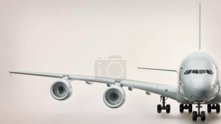 The aircraft was on a white background.