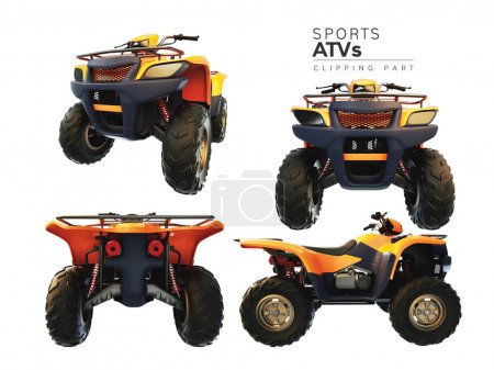 ATVs on a white background.