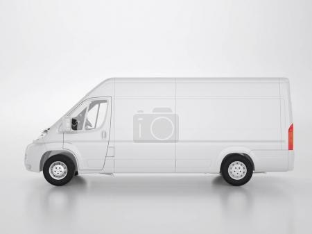 Small truck on a white background. Clipping path.