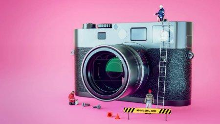 model's repair camera.