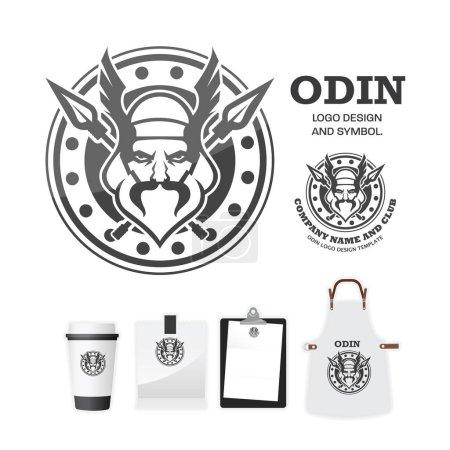 Odin gods Vector logo design template....