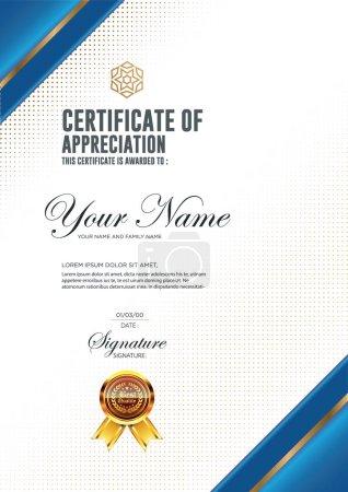 Illustration pour Modèle de luxe vectoriel de certificat . - image libre de droit