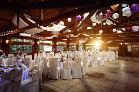decorated place for wedding reception