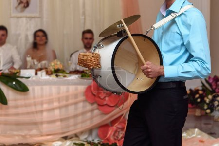funny drummer musician playing