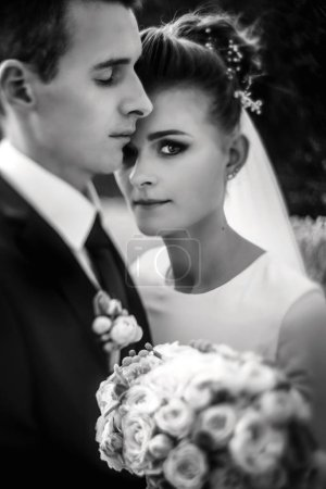 gorgeous bride and stylish groom