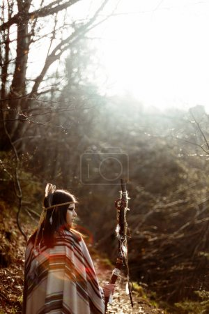 native indian american woman