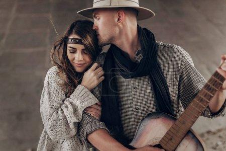 Stylish hipster couple