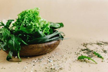 delicious fresh salad arugula spinach