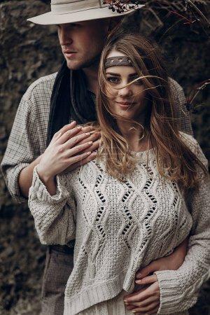 Boho gypsy woman and man