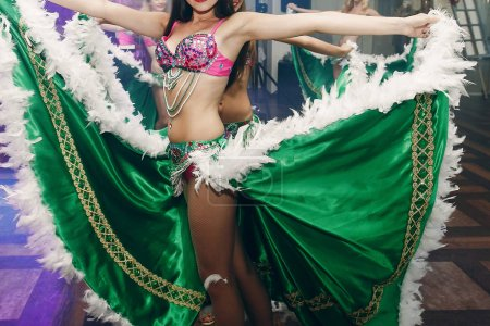 belly dancers in traditional clothes