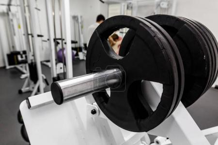 dumbbells, modern gym equipment