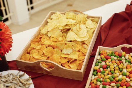 salty chips and nuts