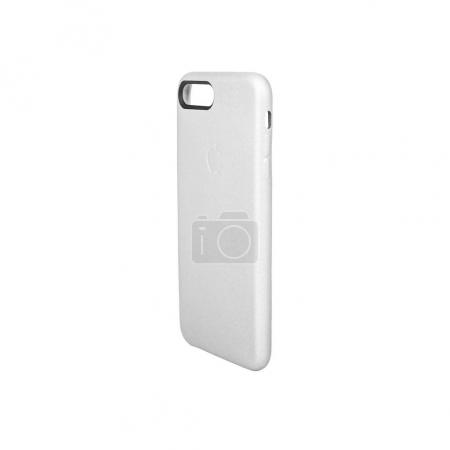 Minsk, Belarus - 1 Sep, 2017: iPhone case isolated on white