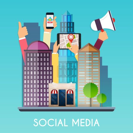 Social media and on devices