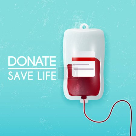 Donate blood bag