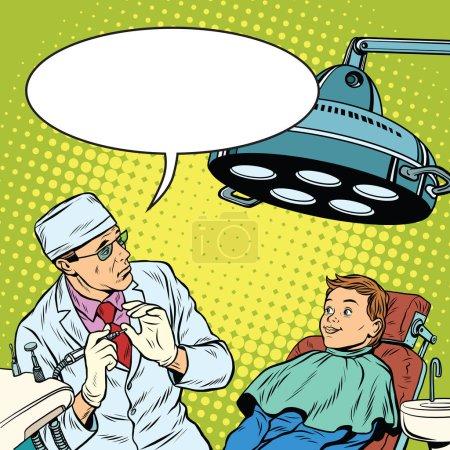 dentist afraid happy boy