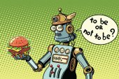 Robot hamburger fast food