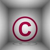 Copyright jel illusztráció. EZÜSTSZÍN ikon-val árnyék a szobában
