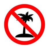 No Coconut palm tree sign