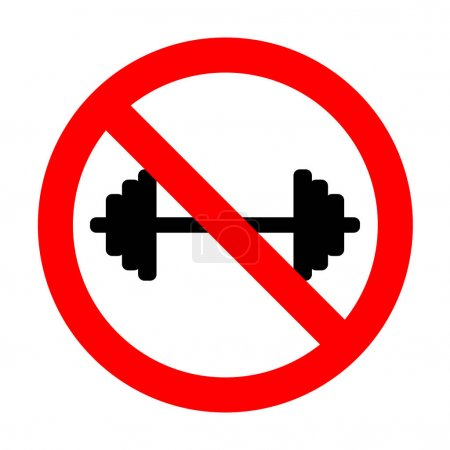 No Dumbbell weights sign.