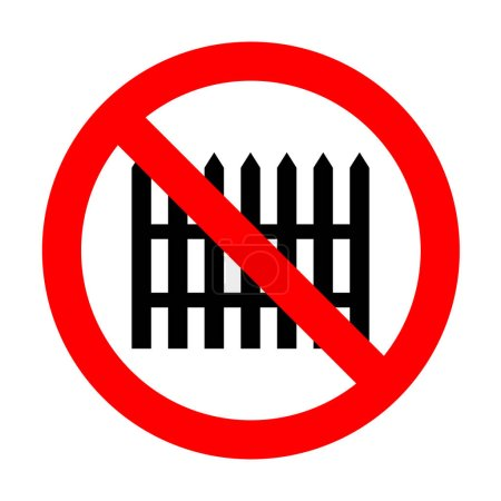 No Fence simple sign.