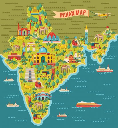 India map background  vector illustration...