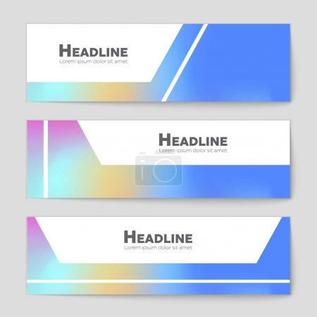 Abstract vector layout background set. For art template design,
