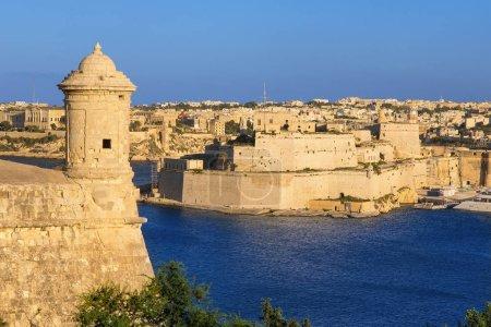 Photo pour Malte, vue sur la Senglea depuis La Valette - image libre de droit
