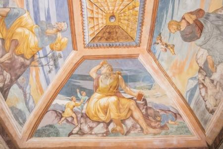 Ceiling paintings of the chapel of the Hospital de Santiago, Ube