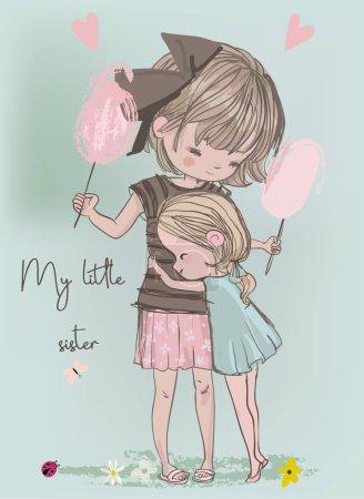 cute girls embrace