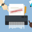 Paper shredder confidential and private document o...