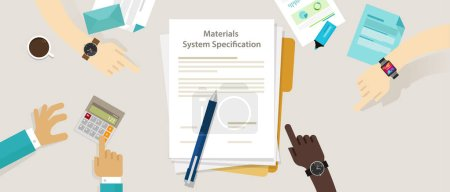 Material system specifications project procurement...