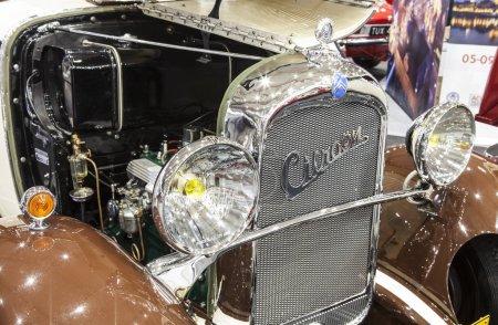 Old Citroen car on static