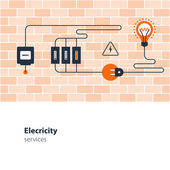 Electricity connection electrical services and supply energy saving