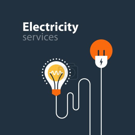 Illustration for Flat design vector illustration. Electricity graphic elements - Royalty Free Image