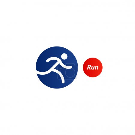 Running logo, sport event icon