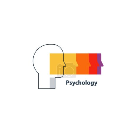Illustration for Human psychology and communication, flat design vector illustration - Royalty Free Image