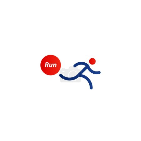 Running logo, sport event icon