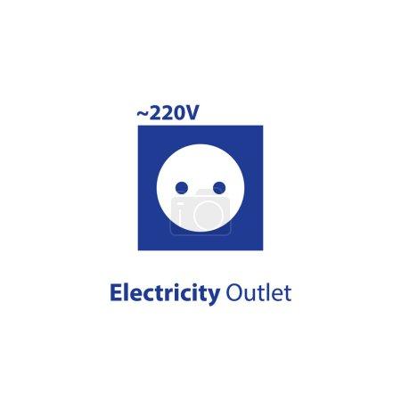 Electricity outlet, 220 voltage point, socket flat...