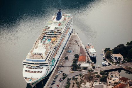 cruise ship aerial view